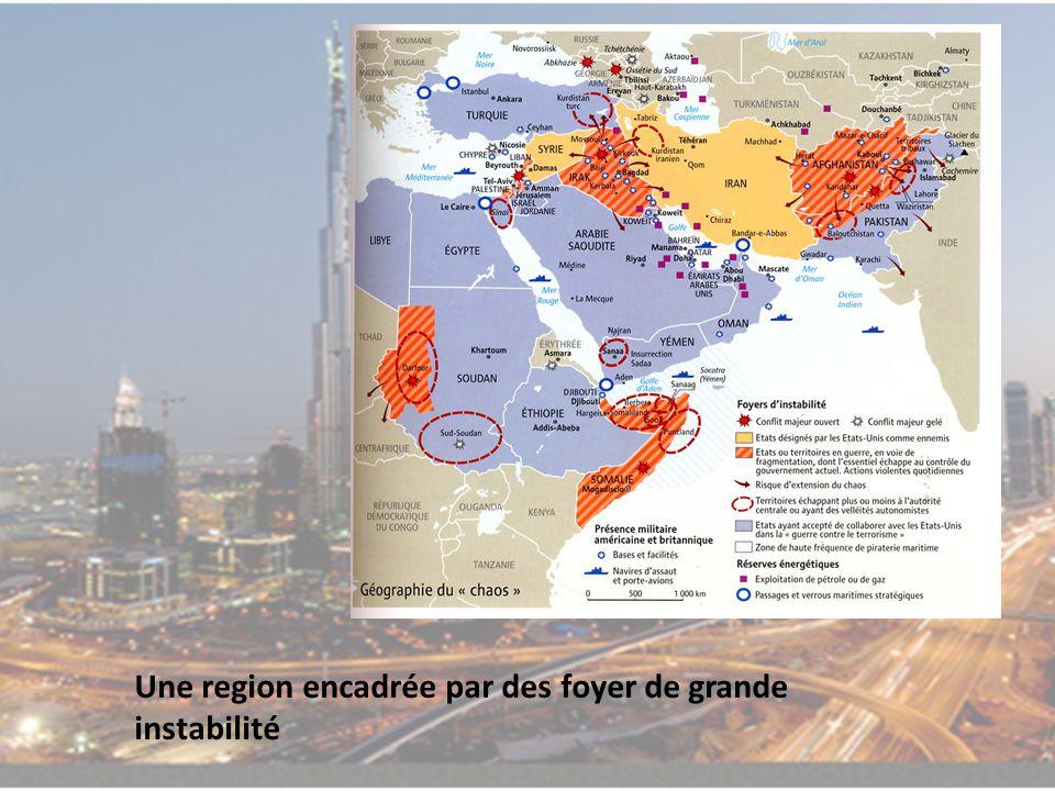 Une region encadrée par des foyer de grande instabilité