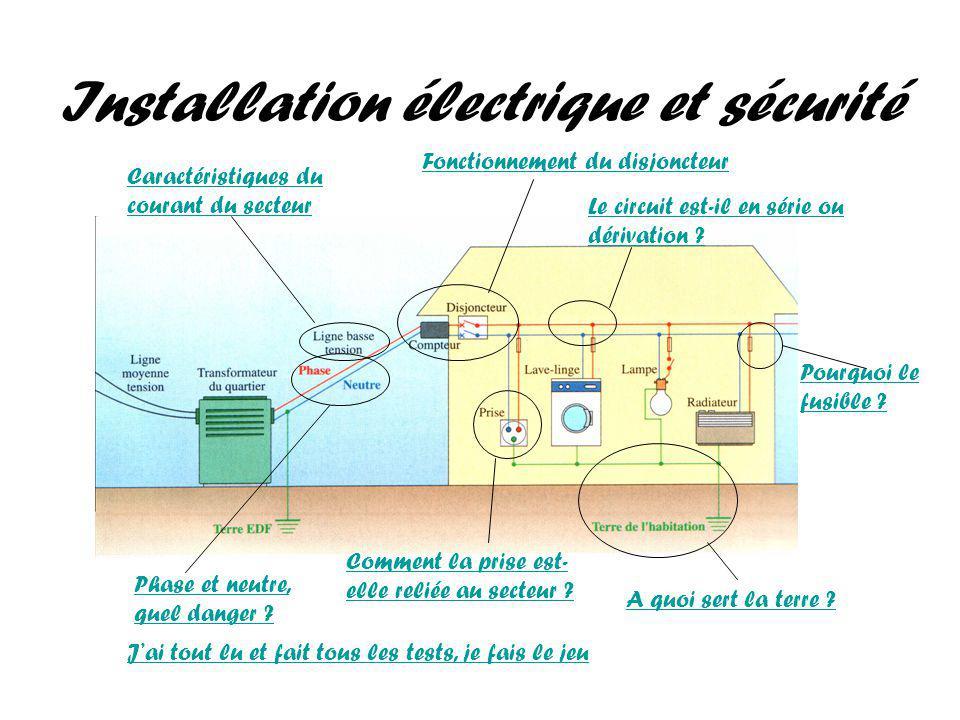 Installation électrique et sécurité Phase et neutre, quel danger .