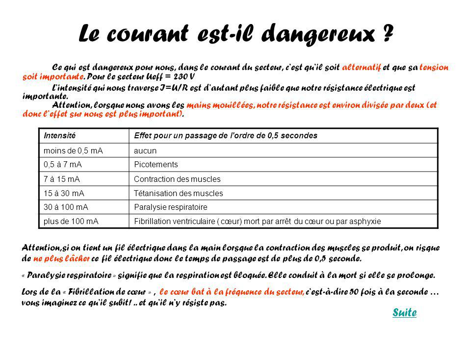 La phase et le neutre, quel danger .