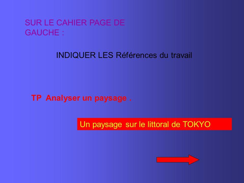 1 SITUER LA BAIE DE TOKYO EN UTILISANT LES CARTES DE VOTRE LIVRE.