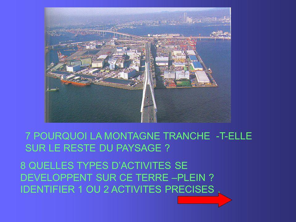 7 POURQUOI LA MONTAGNE TRANCHE -T-ELLE SUR LE RESTE DU PAYSAGE .