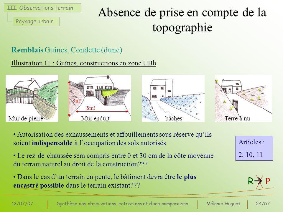 Mélanie Huguet24/57 13/07/07Synthèse des observations, entretiens et dune comparaison III.
