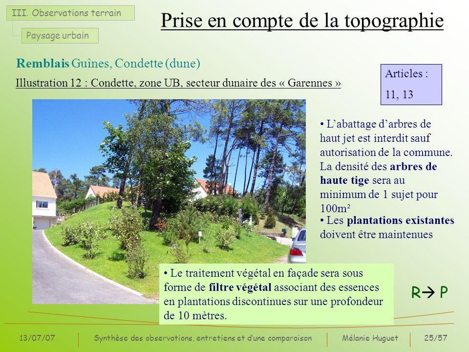 Mélanie Huguet25/57 13/07/07Synthèse des observations, entretiens et dune comparaison III.
