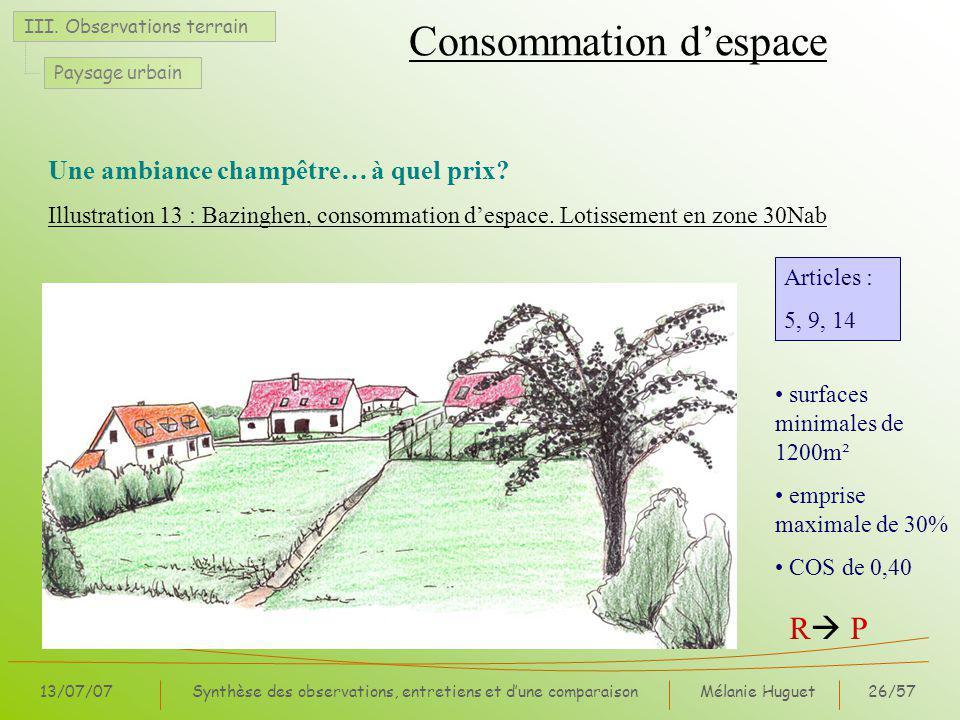 Mélanie Huguet26/57 13/07/07Synthèse des observations, entretiens et dune comparaison III.