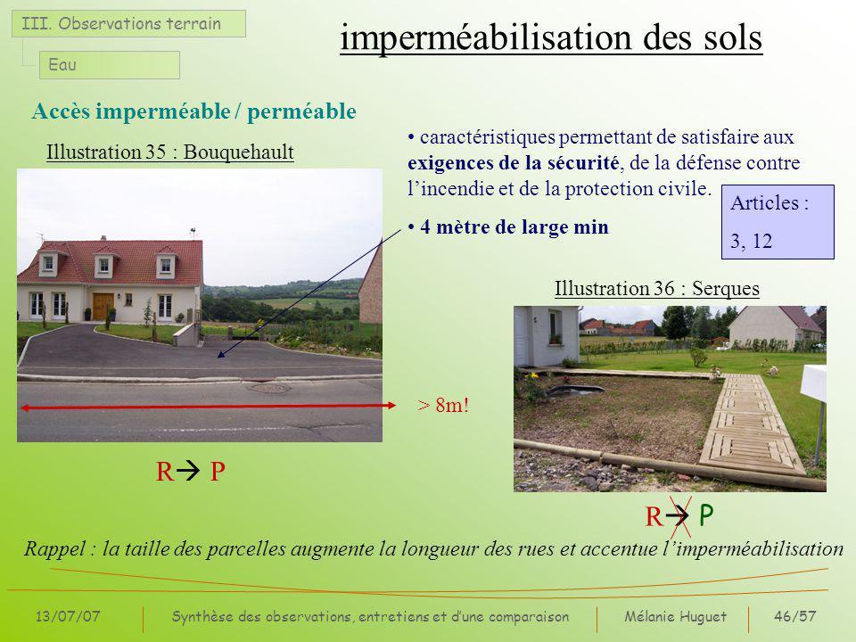 Mélanie Huguet46/57 13/07/07Synthèse des observations, entretiens et dune comparaison III.