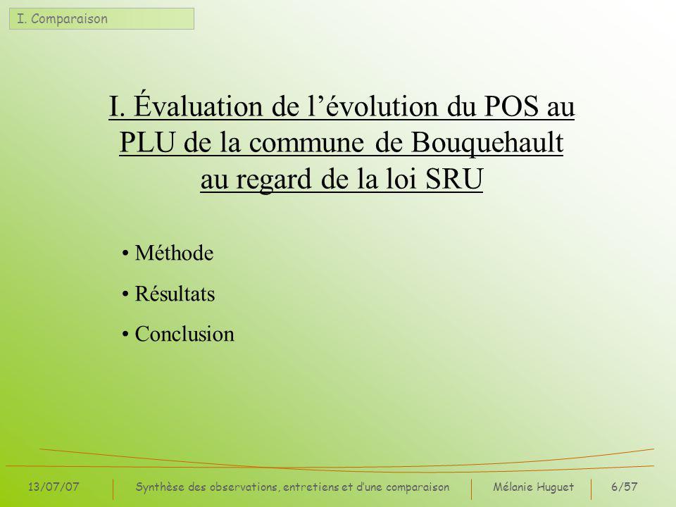 Mélanie Huguet57/57 13/07/07Synthèse des observations, entretiens et dune comparaison IV.