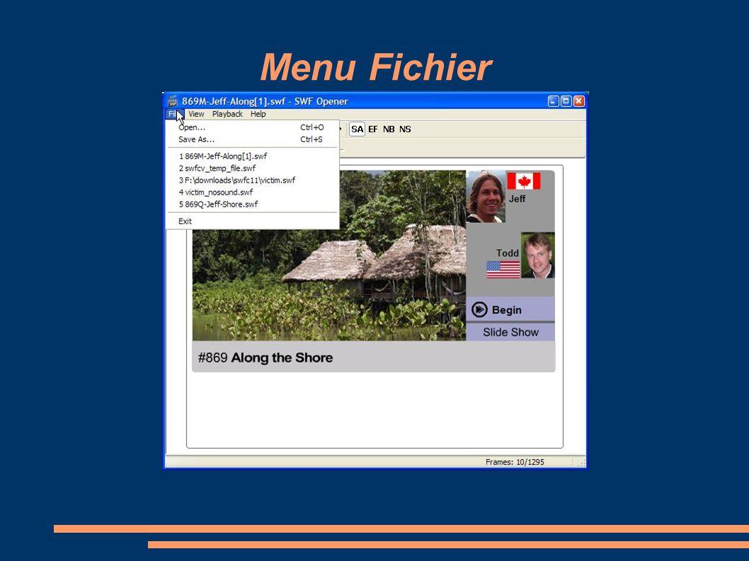 Menu Fichier