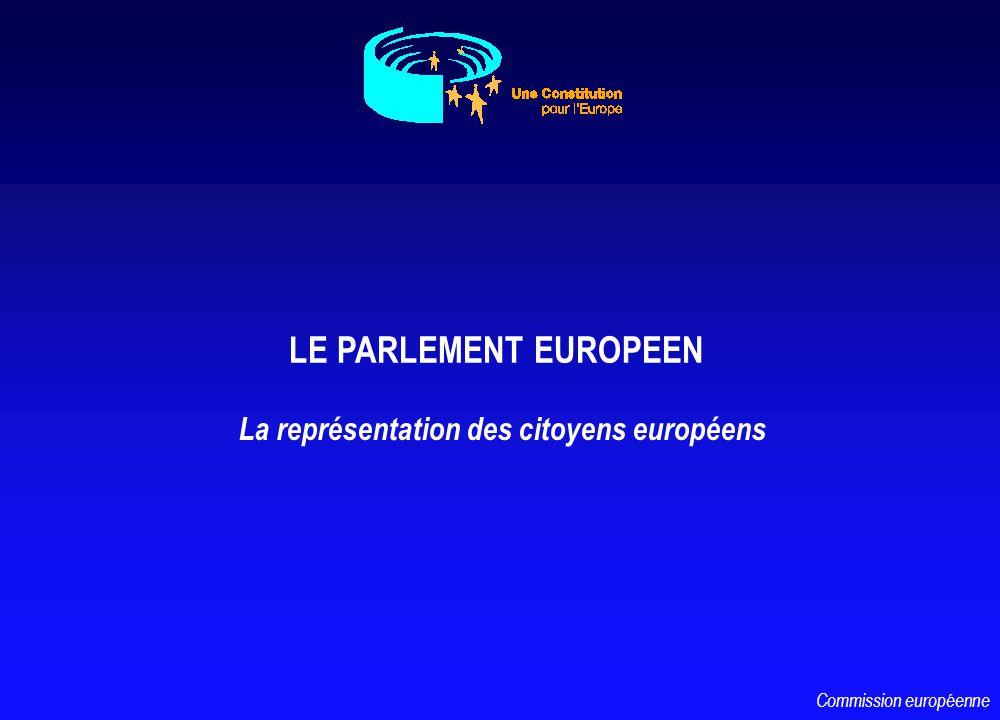 LE PARLEMENT EUROPEEN La représentation des citoyens européens Commission européenne