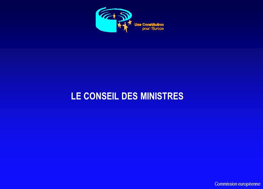 LE CONSEIL DES MINISTRES Commission européenne