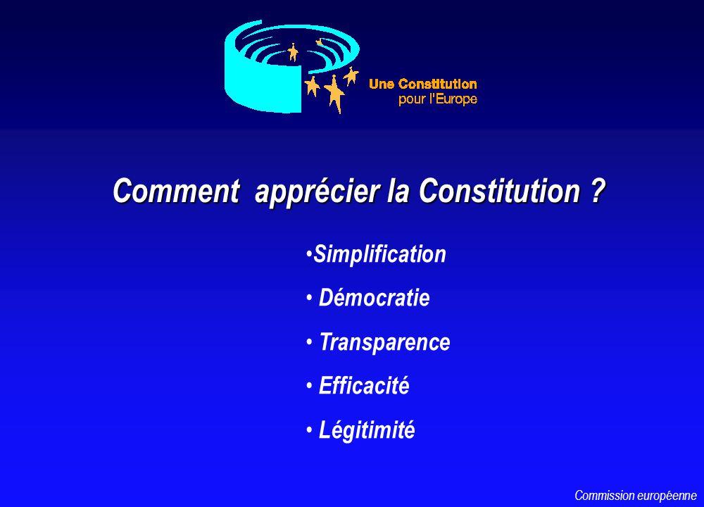 Comment apprécier la Constitution .