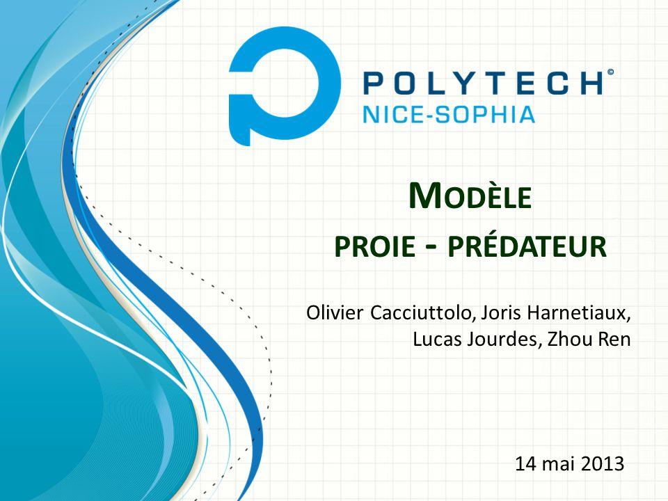 M ODÈLE PROIE - PRÉDATEUR Olivier Cacciuttolo, Joris Harnetiaux, Lucas Jourdes, Zhou Ren 14 mai 2013