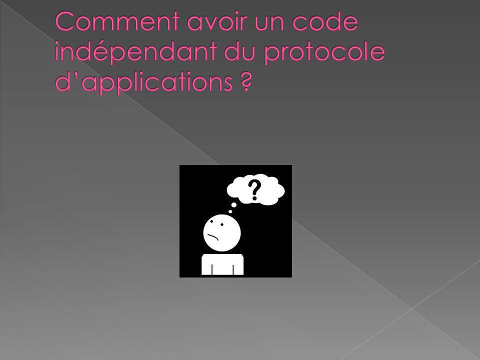 Le protocole est écrit dans une interface Java Des stubs sont générés et contiennent le code sockets Ils sont écrits grâce à la réflexivité Java Que font les stubs .