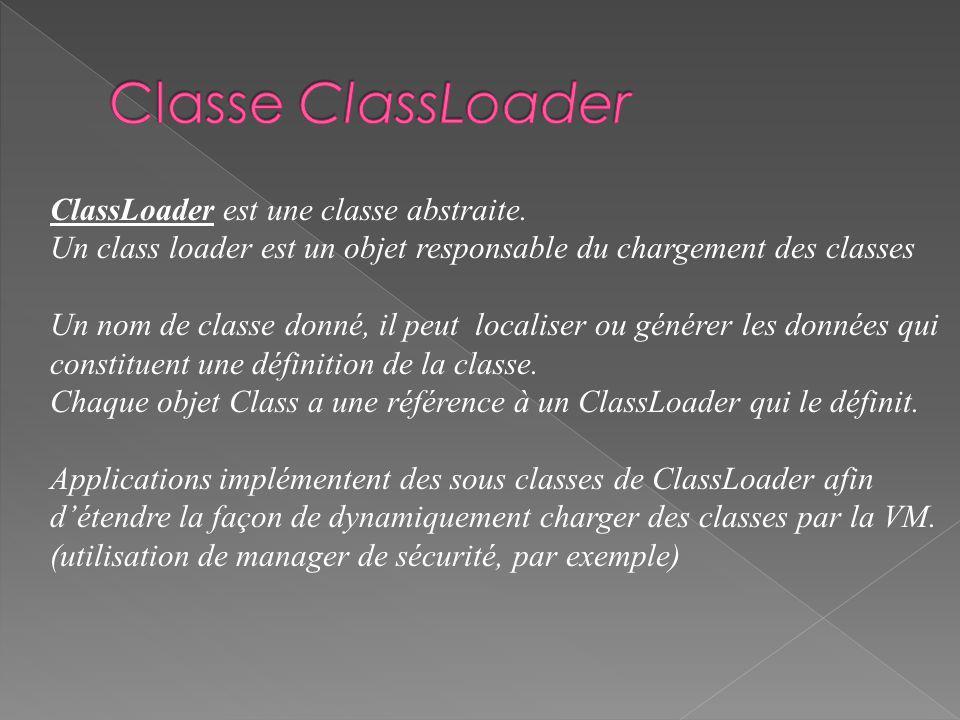 ClassLoader est une classe abstraite.
