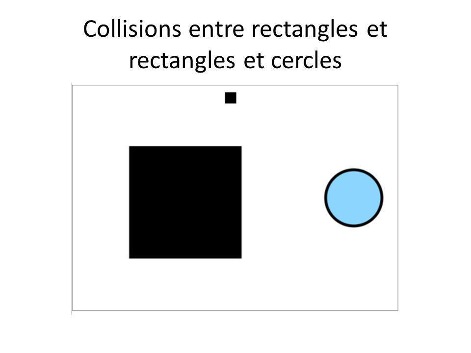 Collisions entre rectangles et rectangles et cercles