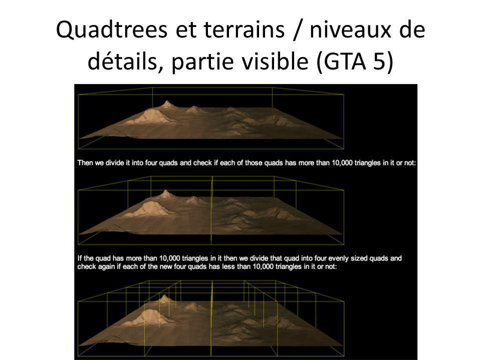 Quadtrees et terrains / niveaux de détails, partie visible (GTA 5)