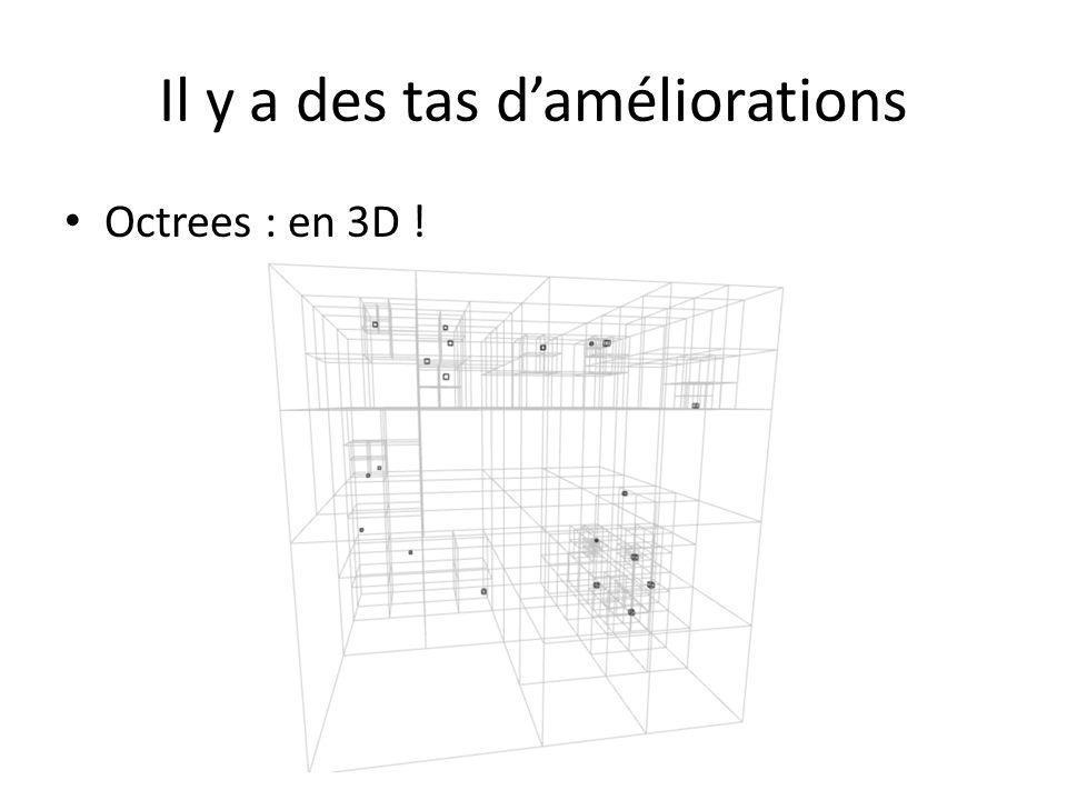 Il y a des tas daméliorations Octrees : en 3D !