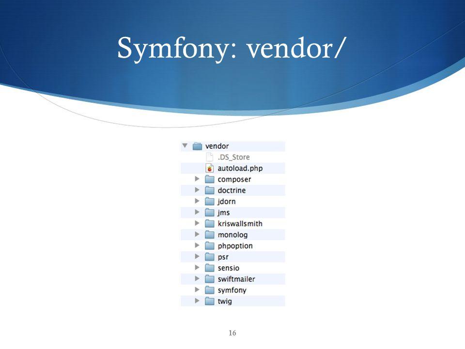 Symfony: vendor/ 16