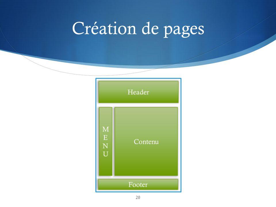 Création de pages 20