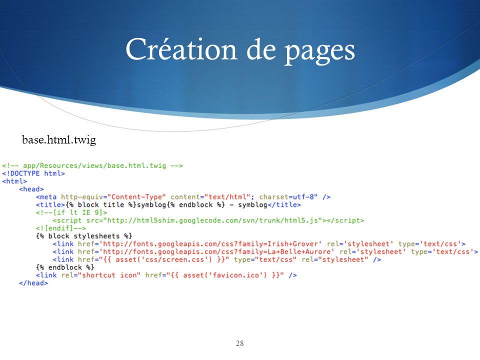 Création de pages 28 base.html.twig
