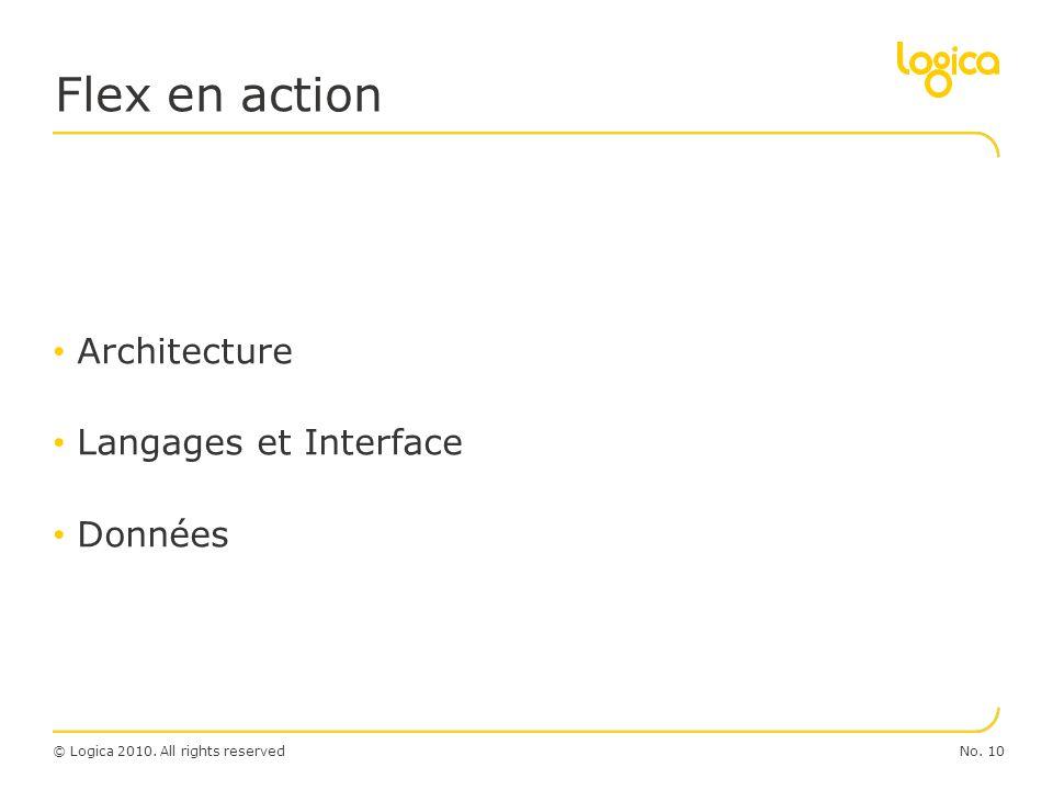 © Logica 2010. All rights reservedNo. 10 Architecture Langages et Interface Données Flex en action