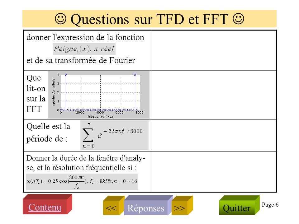Page 5 Transformée de Fourier et spectre comment calculer le spectre damplitude dun signal s(t) ? Quel est le spectre d'amplitude de ? que vaut Donner