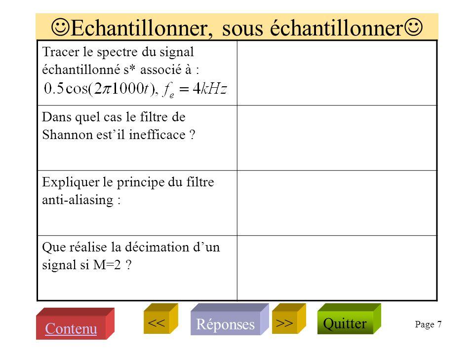 Page 6 Questions sur TFD et FFT donner l'expression de la fonction et de sa transformée de Fourier Que lit-on sur la FFT Quelle est la période de : Do