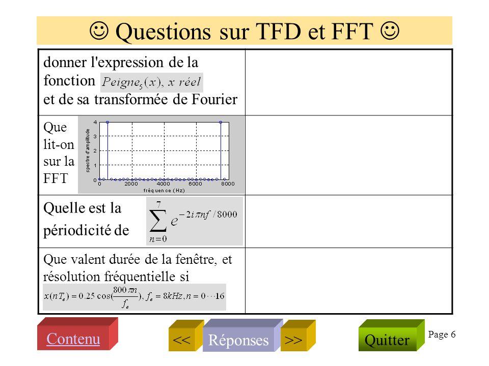 Page 5 Transformée de Fourier et spectre Quappelle ton spectre damplitude dun signal s(t) .