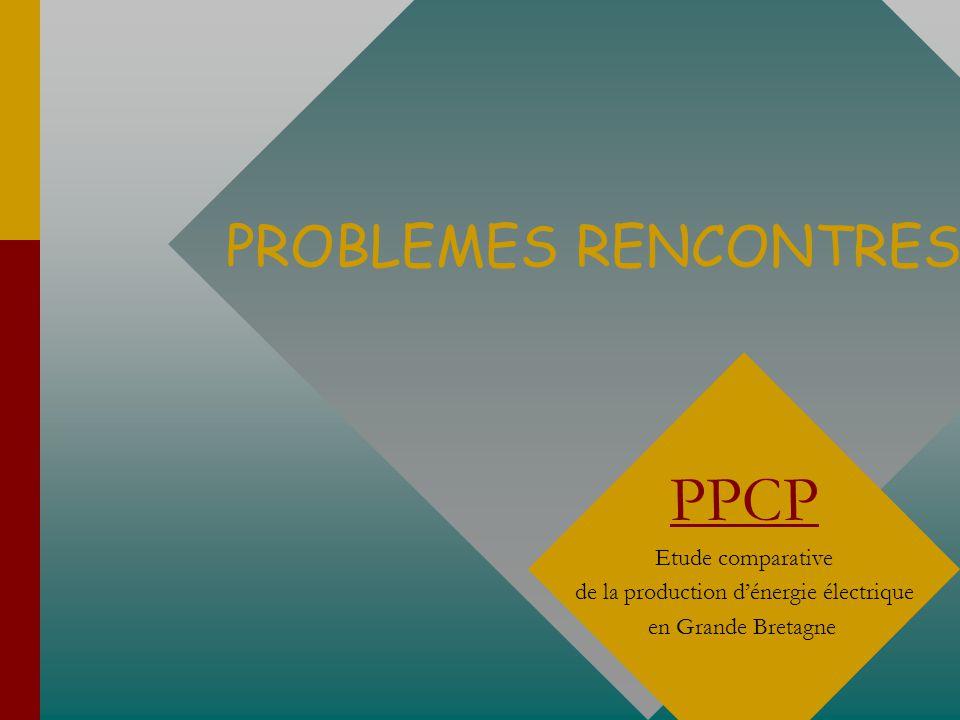 PROBLEMES RENCONTRES PPCP Etude comparative de la production dénergie électrique en Grande Bretagne