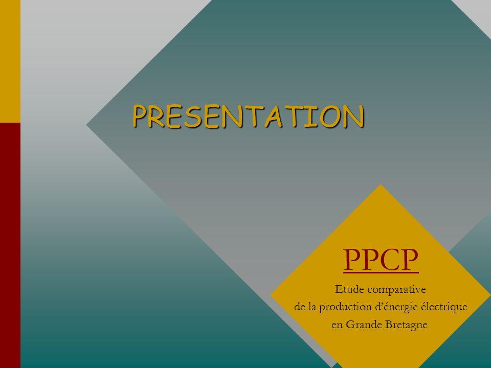PRESENTATION PPCP Etude comparative de la production dénergie électrique en Grande Bretagne