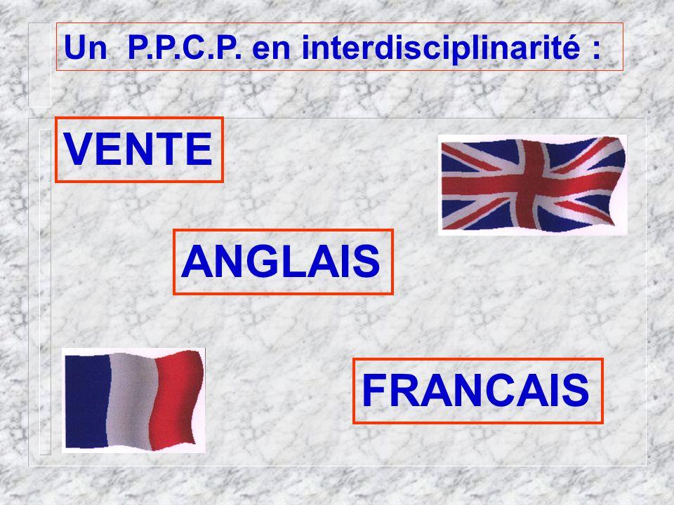 Un P.P.C.P. en interdisciplinarité : VENTE ANGLAIS FRANCAIS