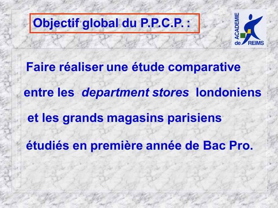 Objectif global du P.P.C.P.