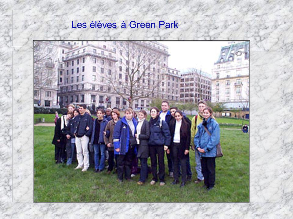 Les élèves à Green Park