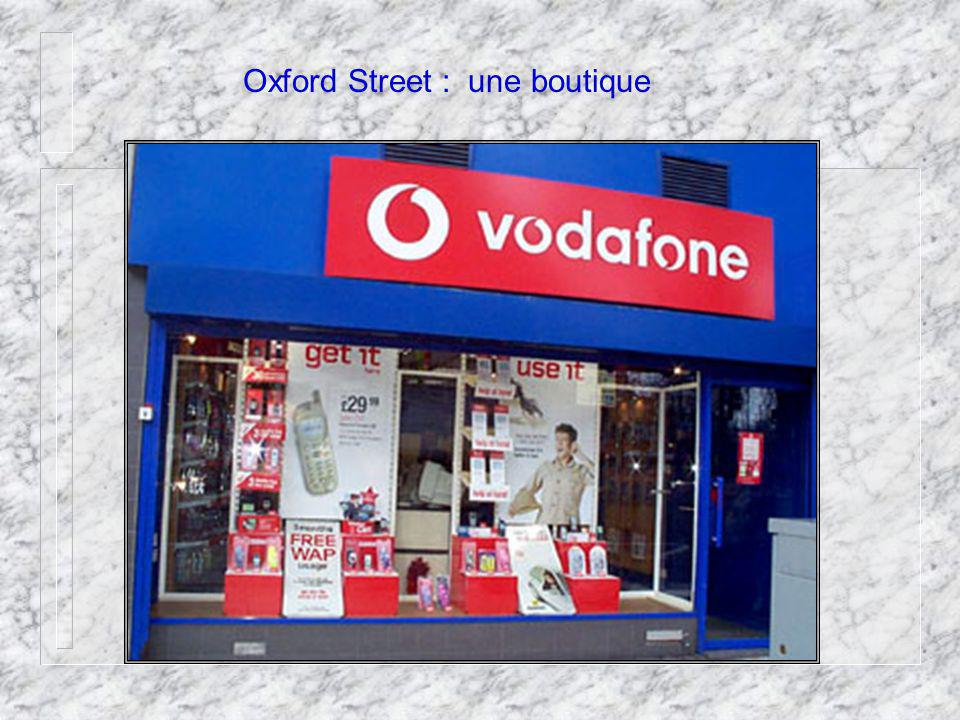 Oxford Street : une boutique
