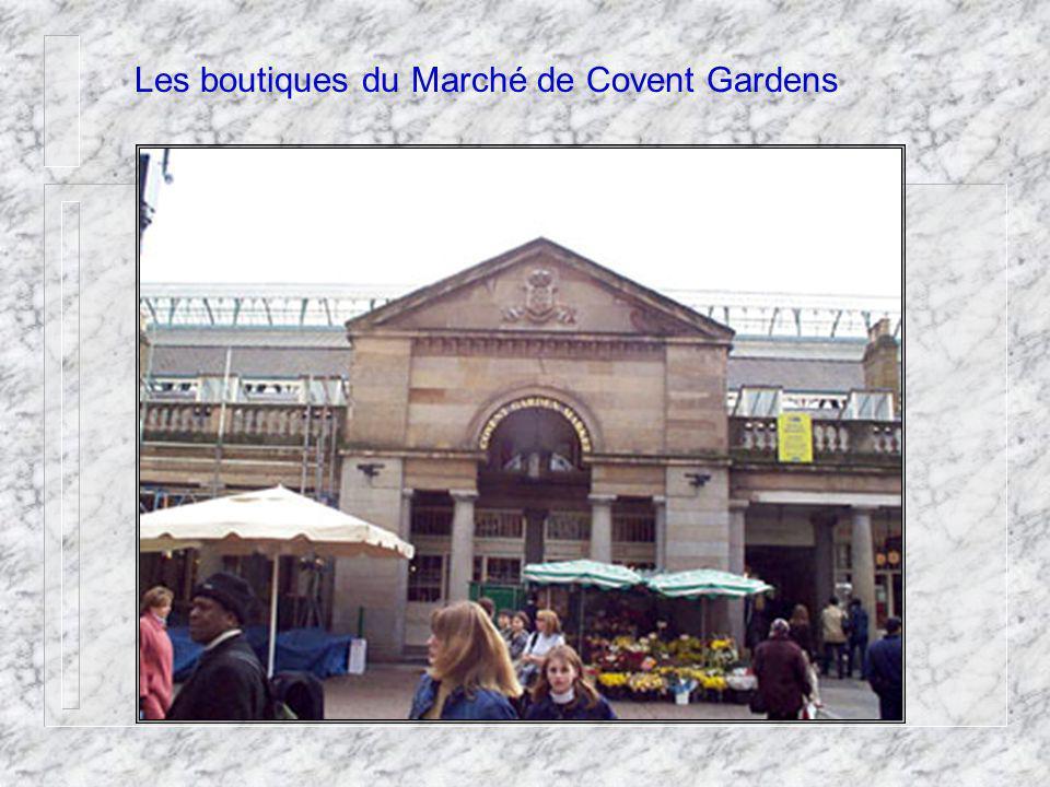Les boutiques du Marché de Covent Gardens