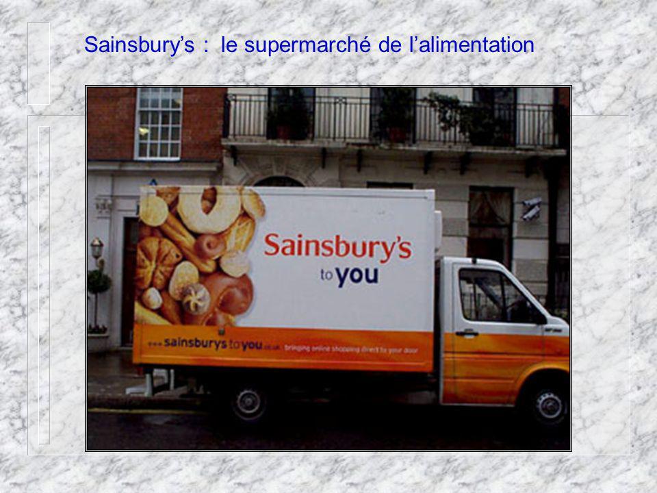 Sainsburys : le supermarché de lalimentation