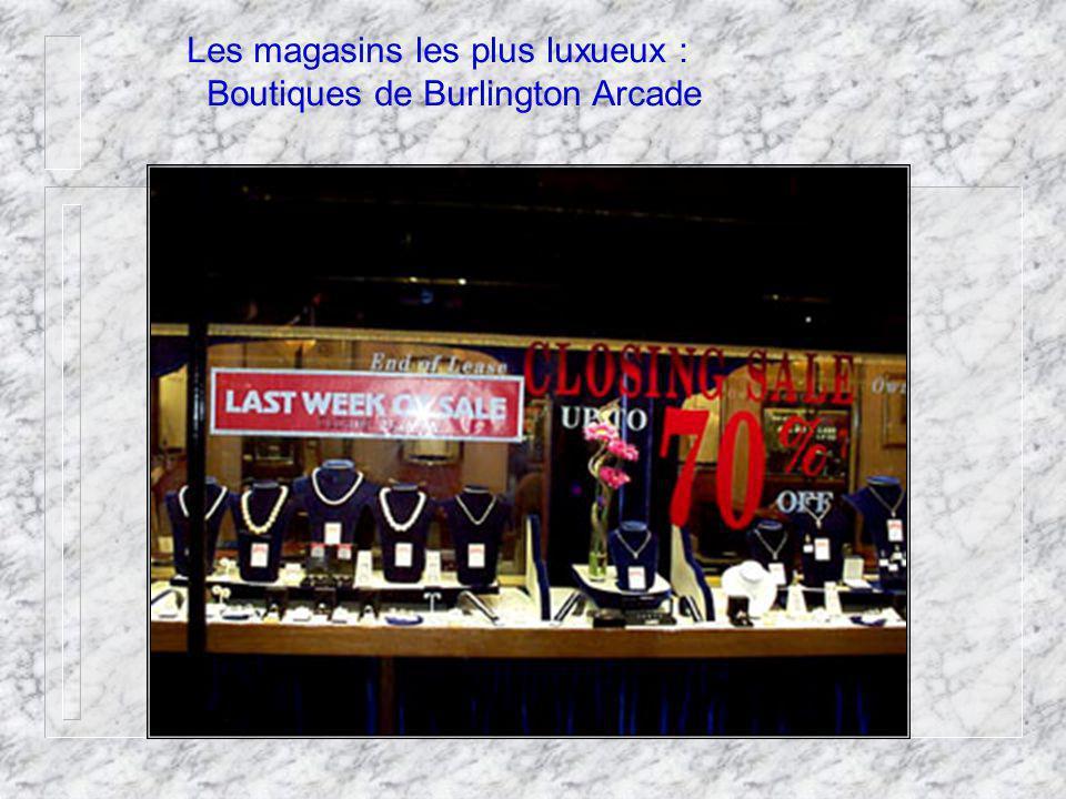 Les magasins les plus luxueux : Boutiques de Burlington Arcade
