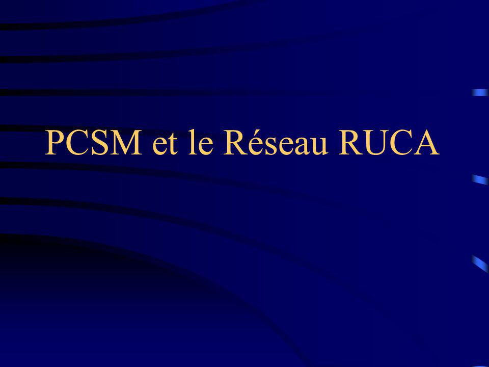 PCSM et le Réseau RUCA