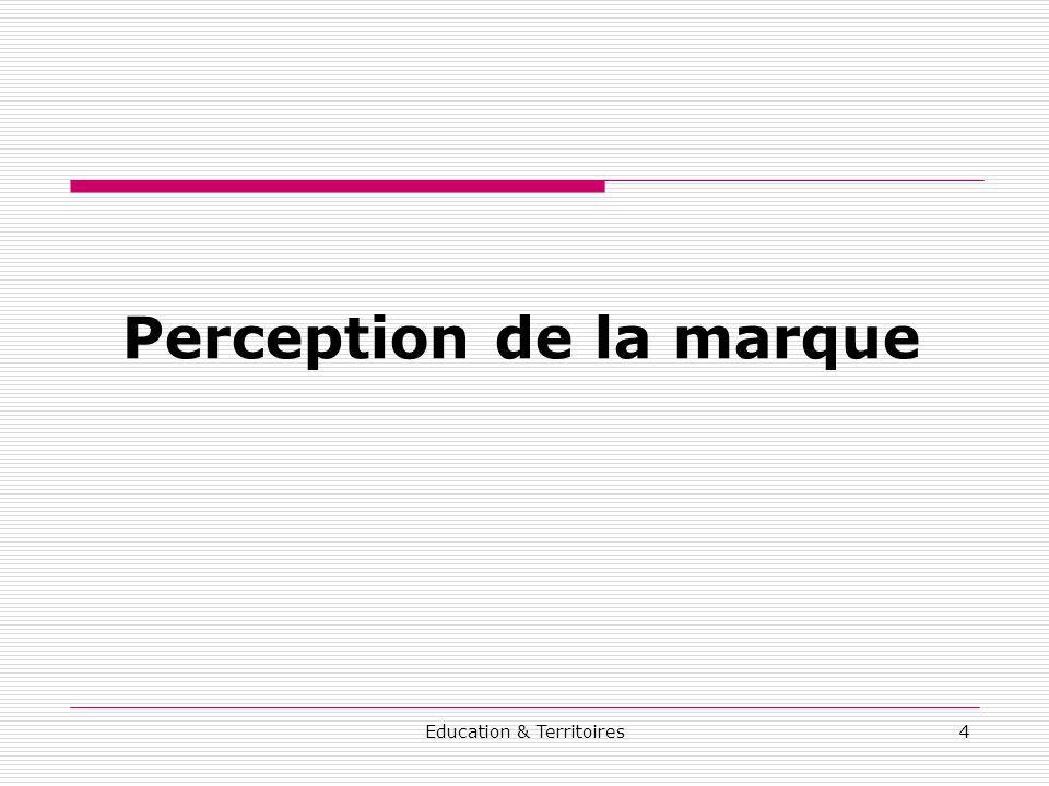 Education & Territoires4 Perception de la marque