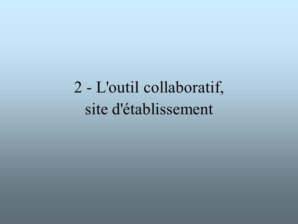 2 - L'outil collaboratif, site d'établissement