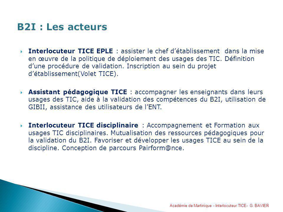Interlocuteur TICE EPLE : assister le chef détablissement dans la mise en œuvre de la politique de déploiement des usages des TIC. Définition dune pro