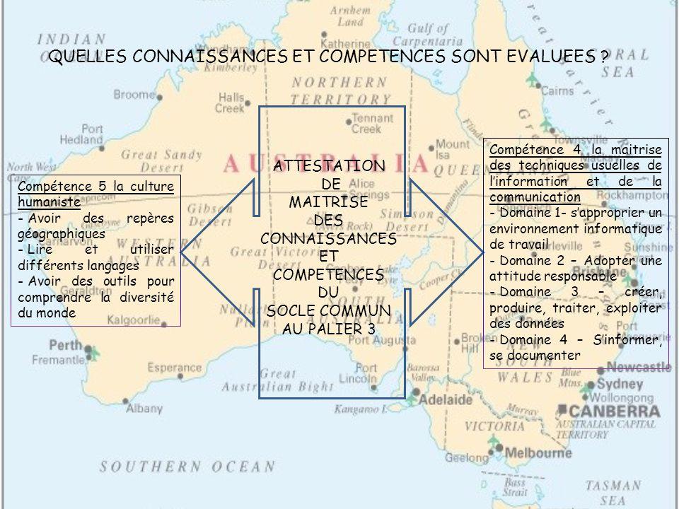 QUELLES CONNAISSANCES ET COMPETENCES SONT EVALUEES .