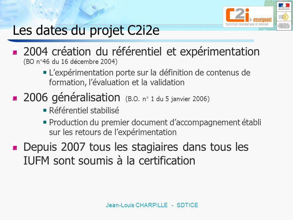19 Jean-Louis CHARPILLE - SDTICE Séminaire de Guidel Tenter de répondre à certaines de ces questions autour de 2 axes : La formation Quelle formation mettre en place pour le C2i2e .