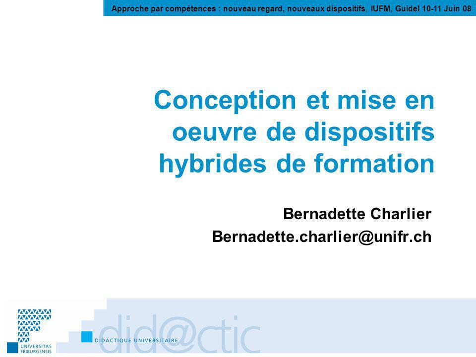 Bernadette Charlier 2.2. Quoi ? : Séminaire de Sciences de lEducation BA N. Deschryver, UNIFR