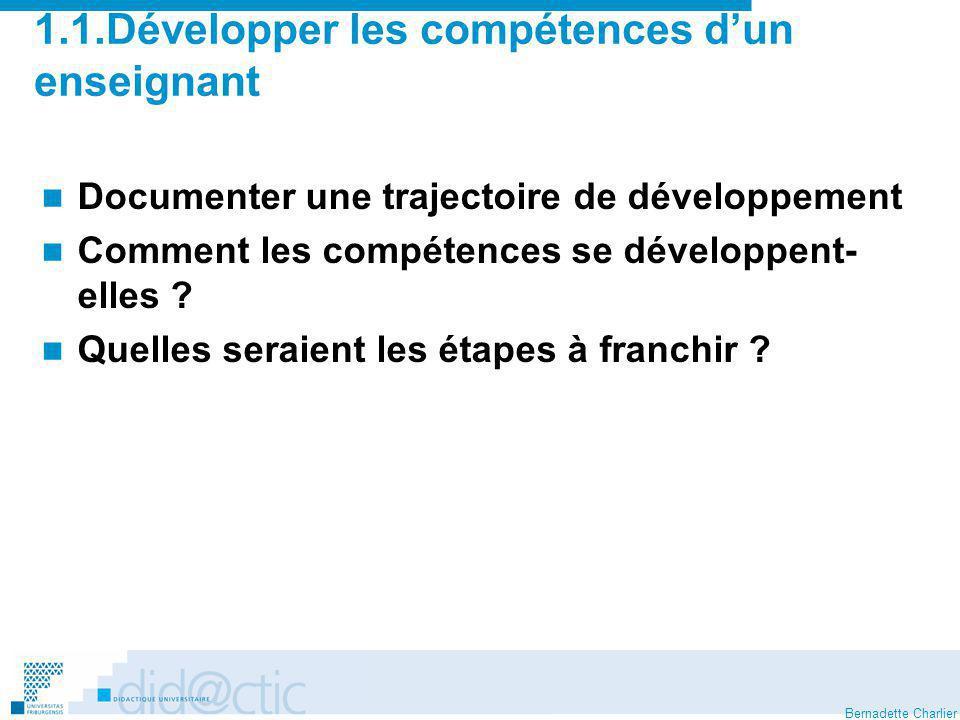 Bernadette Charlier Modèle de lapprentissage de lenseignement 1.2.