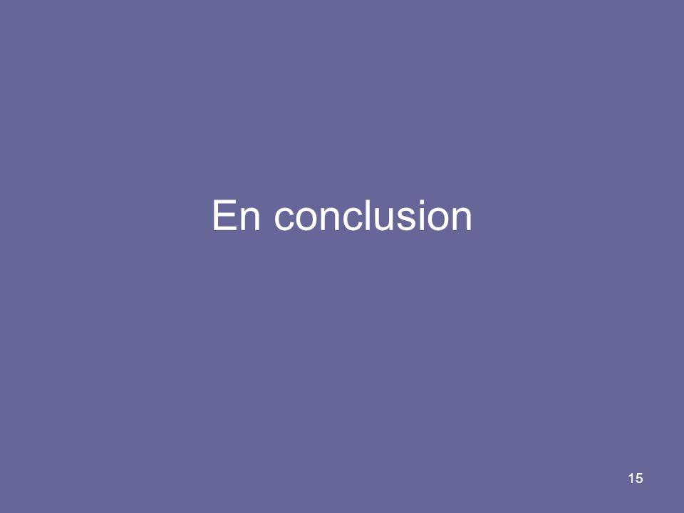 15 En conclusion