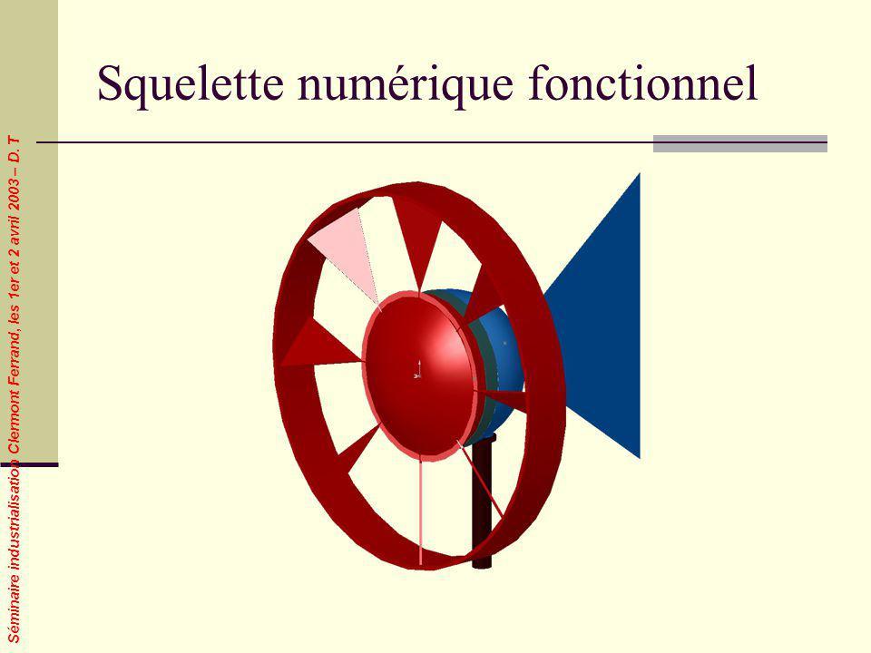 Séminaire industrialisation Clermont Ferrand, les 1er et 2 avril 2003 – D. T Squelette numérique fonctionnel