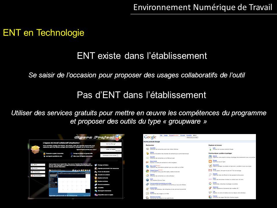 Environnement Numérique de Travail ENT et Technologie : vers le « zéro papier » Réaliser un travail avec plusieurs classes, sur plusieurs niveaux,...