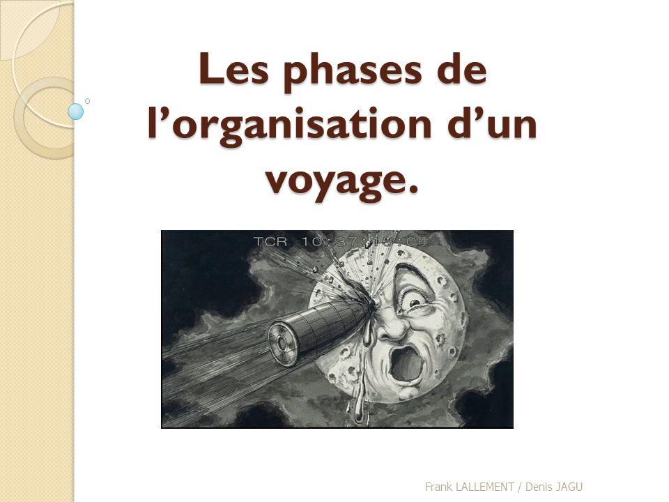 Les phases de lorganisation dun voyage. Frank LALLEMENT / Denis JAGU