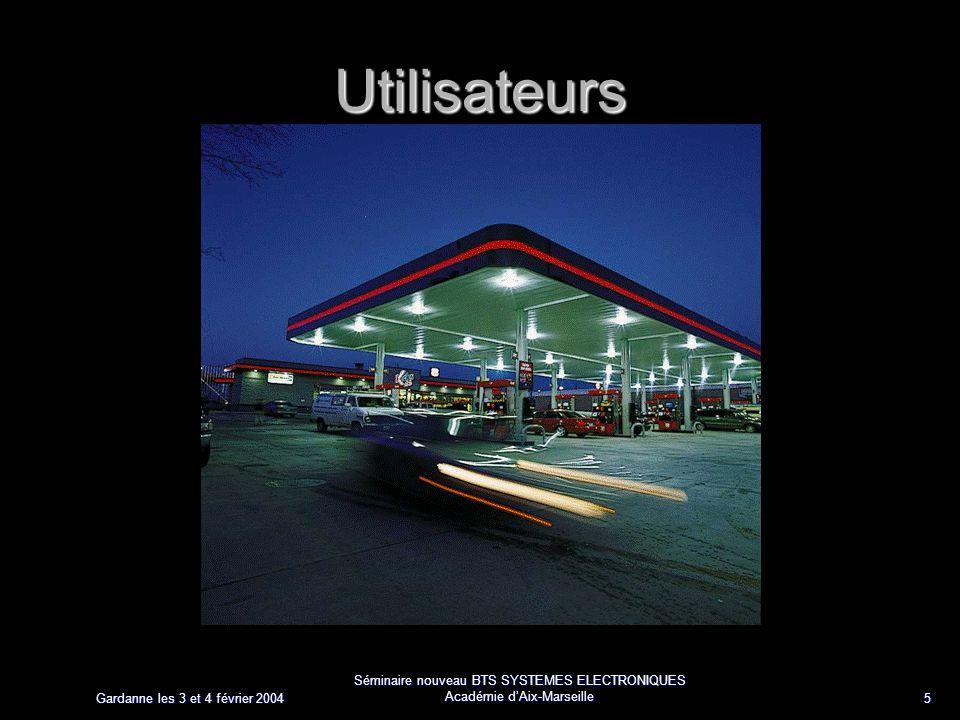 Gardanne les 3 et 4 février 2004 Séminaire nouveau BTS SYSTEMES ELECTRONIQUES Académie dAix-Marseille 5 Utilisateurs