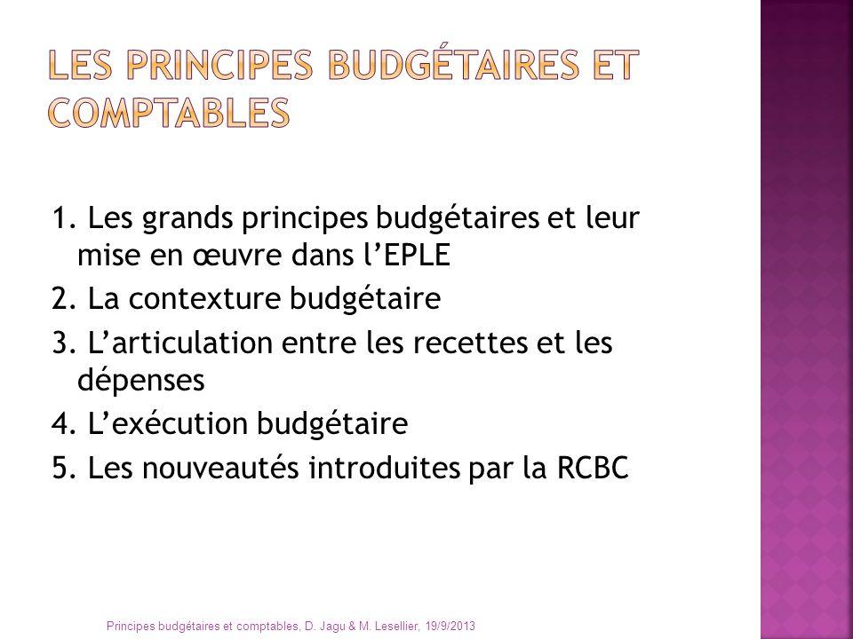 La « comptabilité » est un ensemble de techniques qui servent à décrire une réalité financière La « comptabilité publique » est un ensemble de règles de droit, partie du droit public Principes budgétaires et comptables, D.
